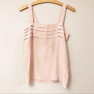 NWT Madeleine Powder Pink Silk Tank